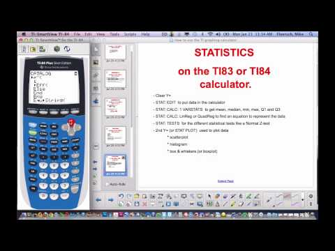 How to use TI83 or 84 calculator