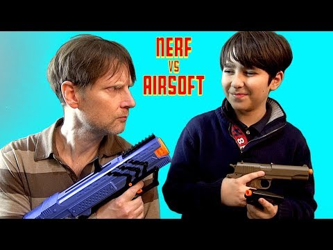 Nerf Vs Airsoft Competition And Gameplay