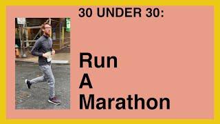 30 Under 30: Prepping for the Marathon