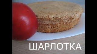 Шарлотка с яблоками.  Самый простой и вкусный рецепт. Домашняя выпечка.