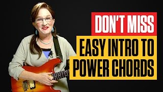 How to Play Guitar Power Chords Easy | Beginner Guitar Lessons | Guitar Tricks