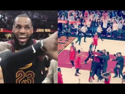 Best Fan Reactions To LeBron's Buzzer Beater Vs Toronto In Game 3! (NBA Playoffs 2017/2018)