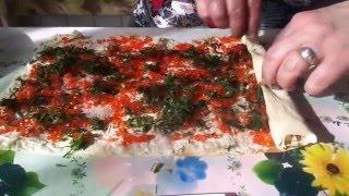 Очень быстрая.закуска из армянского лаваша с сыром.