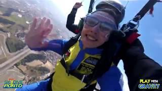 Salto tandem 5000m - Cláudia Sousa - Skydive Porto em Braga 2018