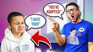 You're ADOPTED PRANK On Little Brother!! **emotional!** (HE CRIED!) | MindOfRez