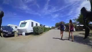 Eindruck Campingplatz und Meer