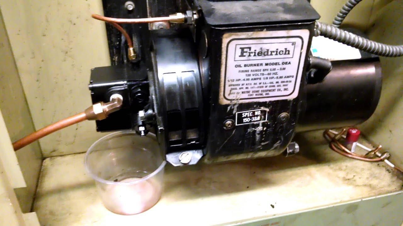 Friedrich oil furnace , Wayne OEA burner - YouTube
