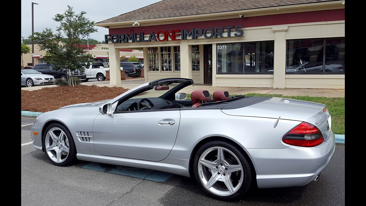 2009 mercedes benz sl550 silver arrow for sale formula one imports charlotte youtube. Black Bedroom Furniture Sets. Home Design Ideas