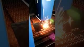 16mm Steel cutting by Fiber laser cutting machine 2000W