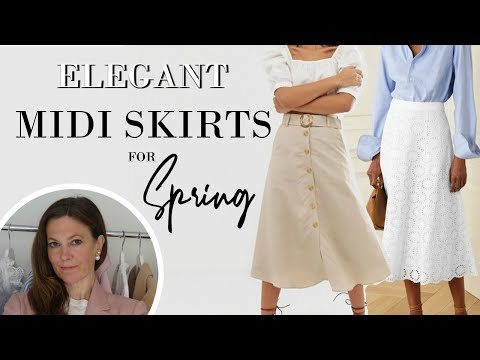 8 ELEGANT ways to style a Midi Skirt in SPRING 2020 | Classy Fashion for Women
