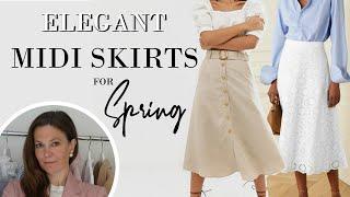 8 ELEGANT ways to style a Midi Skirt in SPRING 2020 Classy Fashion for Women