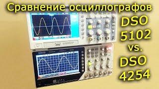 Сравнение осциллографов DSO4254 и DSO5102