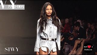 SIWY DENIM Los Angeles Art Hearts Fashion Spring Summer 2017   Fashion Channel