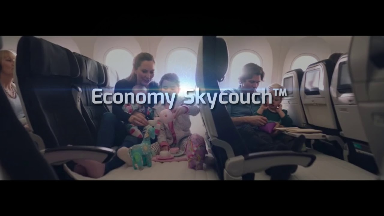 Economy Skycouch From Air New Zealand Corporate Travel Concierge Youtube