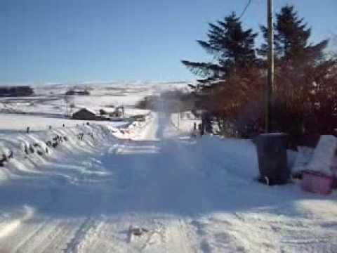Northern Ireland under snow