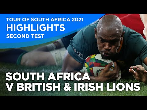 South Africa v British & Irish Lions - Second Test   Highlights   2021   Tour of South Africa