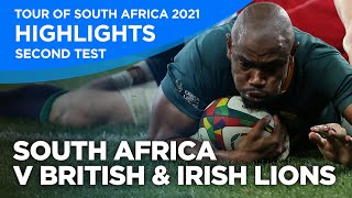 South Africa v British & Irish Lions - Second Test | Highlights | 2021 | Tour of South Africa