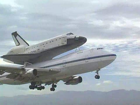 Space Shuttle on 747 - Shuttle Carrier Aircraft (1992 ...