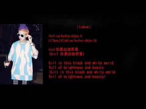 EXO-M (엑소엠) - Growl (EXO-M Version) (咆哮) Lyrics (Member Coded/Color Coded) [Eng/Pinyin/Chinese]