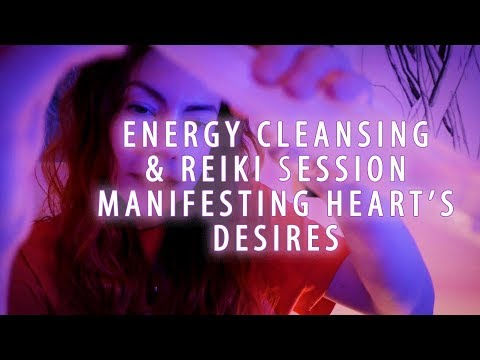 Energy Cleansing and Reiki Session for Manifesting Heart's Desire, ASMR