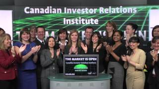 Canadian Investor Relations Institute opens Toronto Stock Exchange, November 28, 2013.
