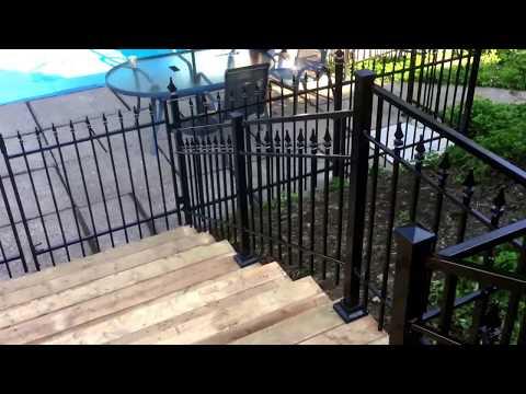 Cloture et rampe d'escalier pour piscine Fabricant et Installateur PARTOUT AU QUÉBEC  514-622-0010