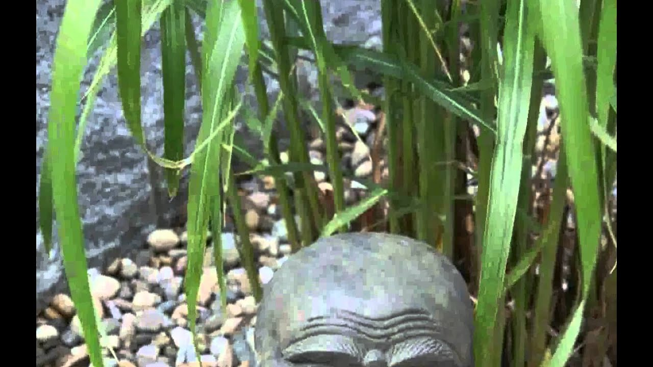 Buddha Stein Garten - design - YouTube