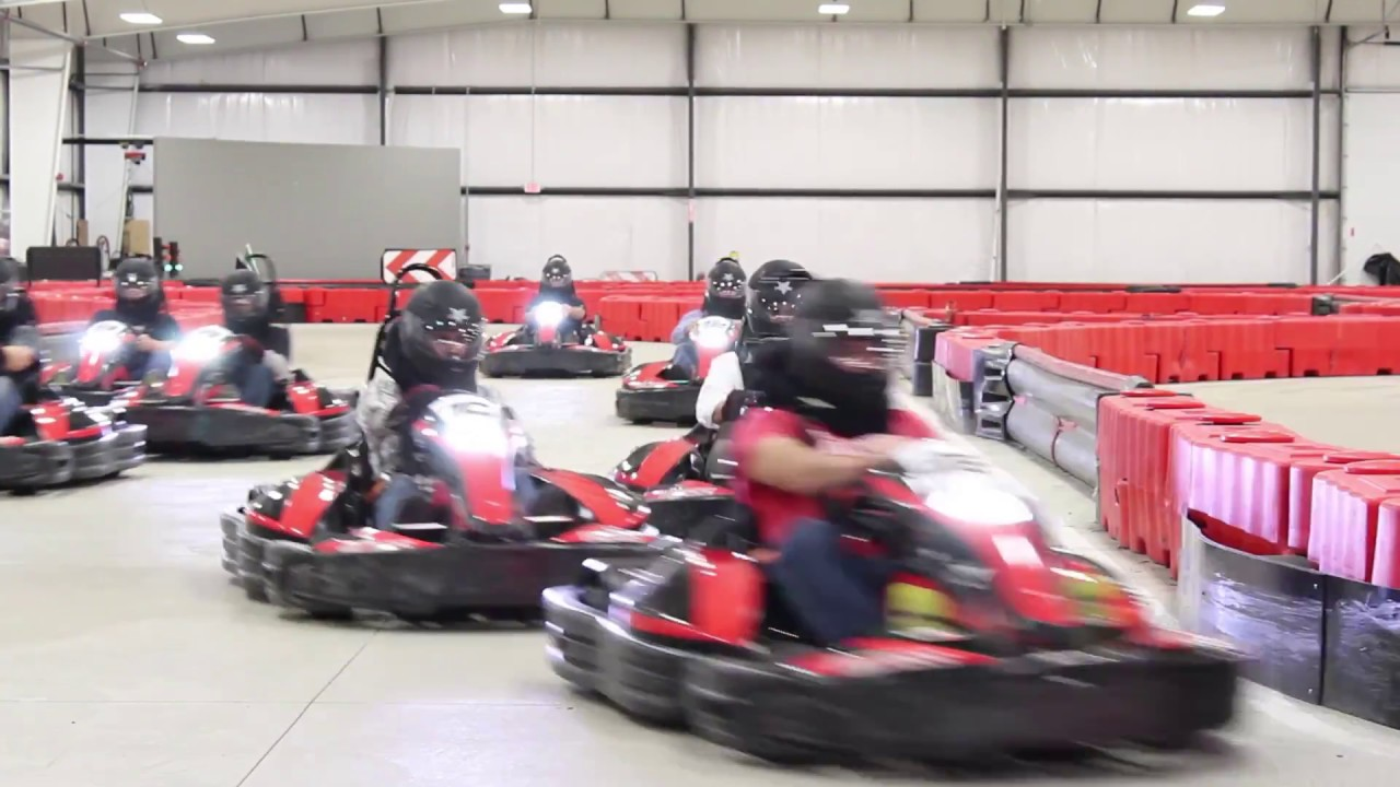 INDOOR GO KART RACING at BOSS Pro Karting - Cleveland, OH - YouTube