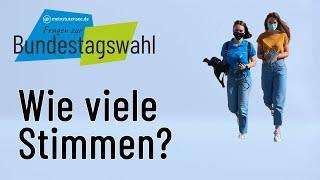 Wahl-Check: Wie viele Stimmen hat man bei der Bundestagswahl?