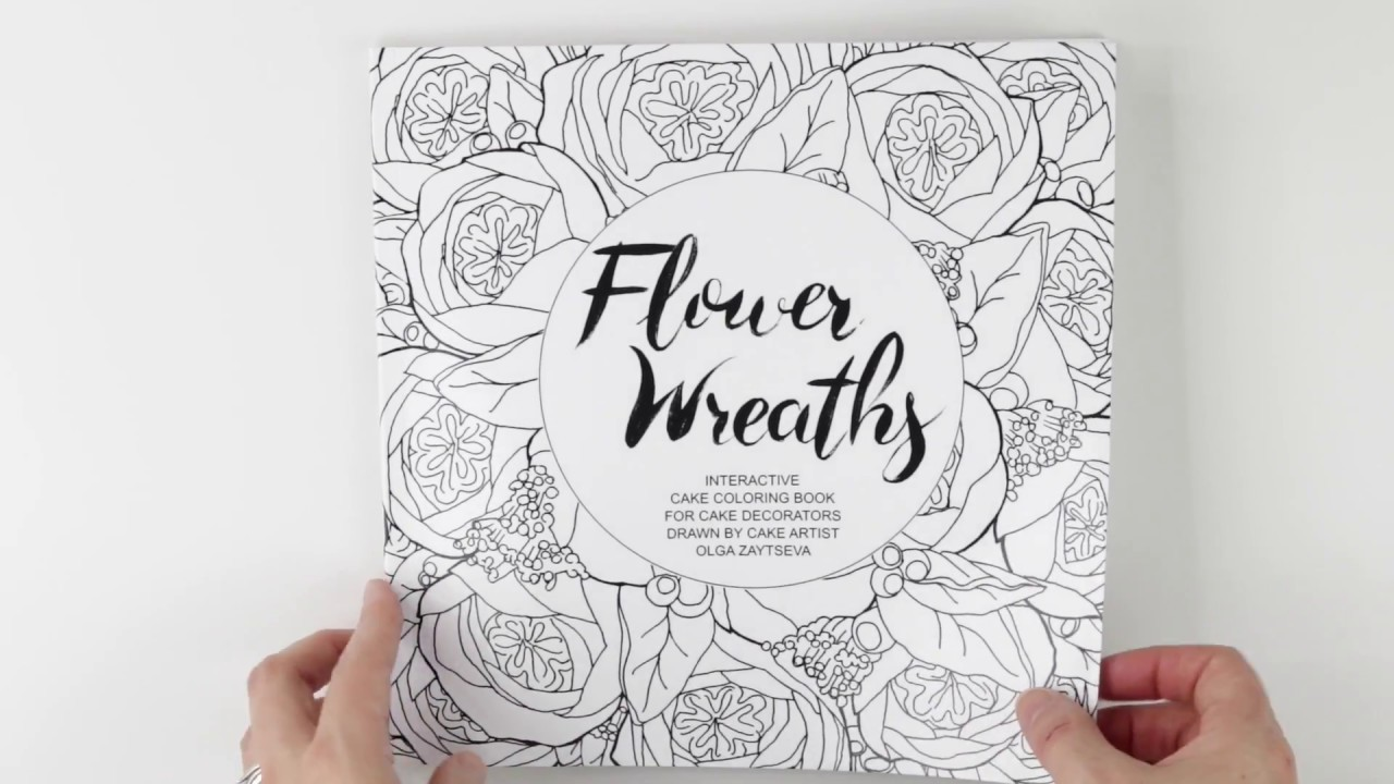 Flipping through Flower Wreaths: Interactive Cake Coloring Book for ...