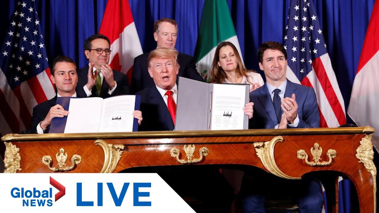 New USMCA trade deal formally signed in Mexico City | LIVE