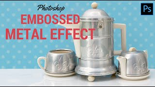 Create an Embossed Metal Effect in Photoshop - making faux pressed metal shapes