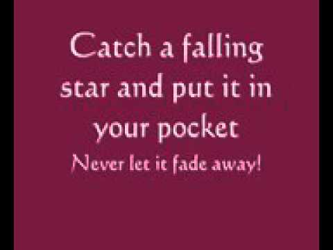 Catch a falling star Lyrics