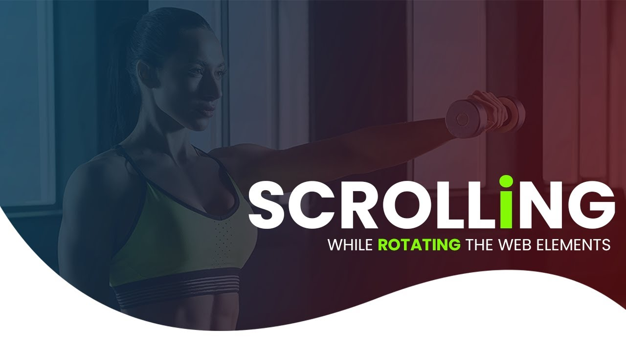 Scroll & Parallax Effect While Scrolling The Website Elements using HTML CSS