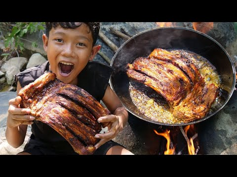a-young-boy-cooking-pork-rib-and-eating-delicious-by-(-kmeng-prey-)_full-hd