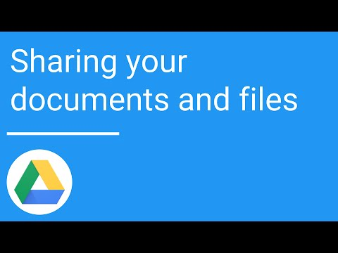 Google Drive: Sharing your documents and files