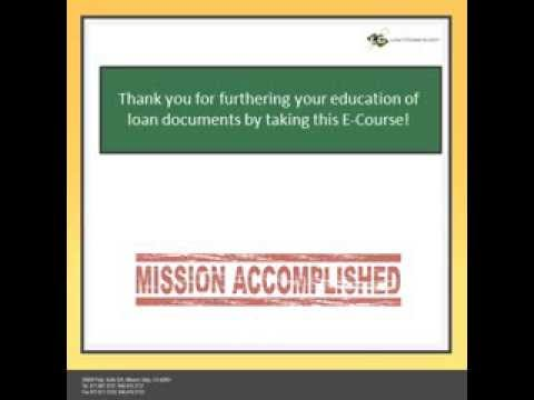 Loan Document E Course