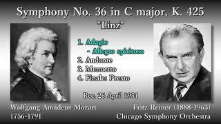 Mozart: Symphony No. 36 `Linz`, Reiner & CSO (1954) モーツァルト 交響曲第36番 ライナー thumbnail