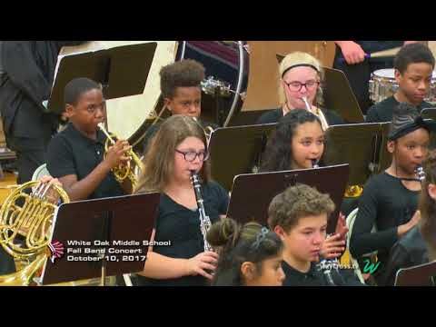 White Oak Middle School Fall Band Concert: October 10, 2017