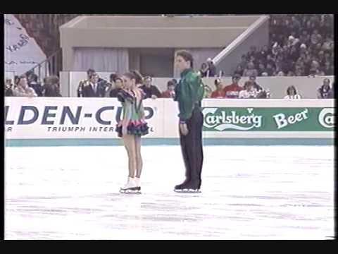 1990 Euros SP Katia Gordeeva and Sergei Grinkov