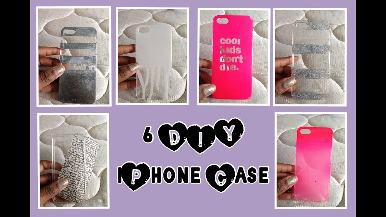 Case Design clear phone case diy : DIY: 6 IPHONE CASES u262f - YouTube