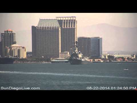 Carl Vinson Carrier Strike Group departing San Diego 8/22/2014 [Tom Ham's East cam] 3 of 3