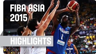 Japan v Philippines - Semi Final - Game Highlights - 2015 FIBA Asia Championship