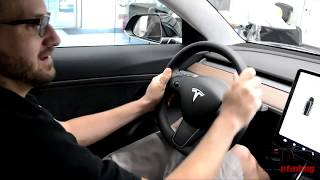 Tesla Model 3 - First Look at the Touchscreen (by OCDetailing)