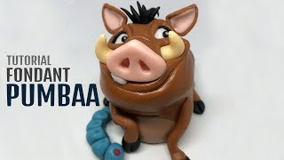 Pumbaa - Lion King | fondant animals tutorial