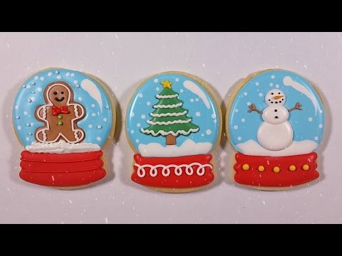 How to Decorate Snow Globe Cookies