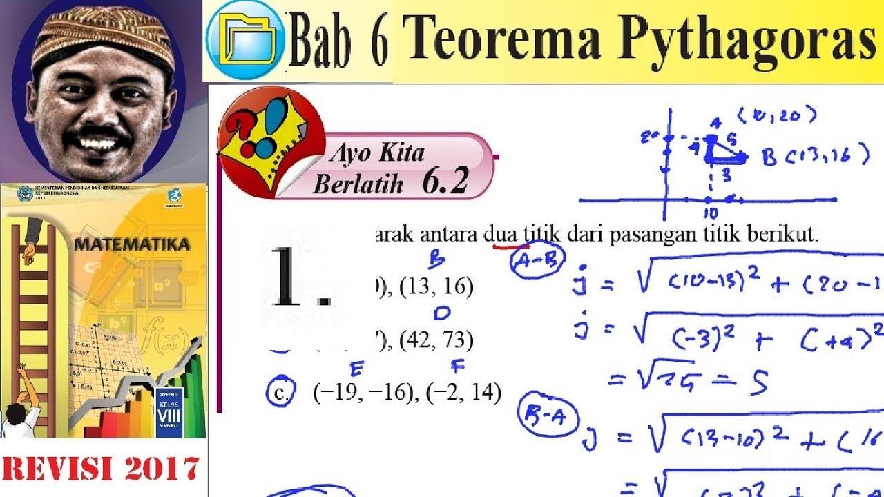 Teorema Pythagoras Matematika Kelas 8 Bse K13 Rev 2017 Lat 6 2 No 1 Perhitungan Pythagoras Youtube
