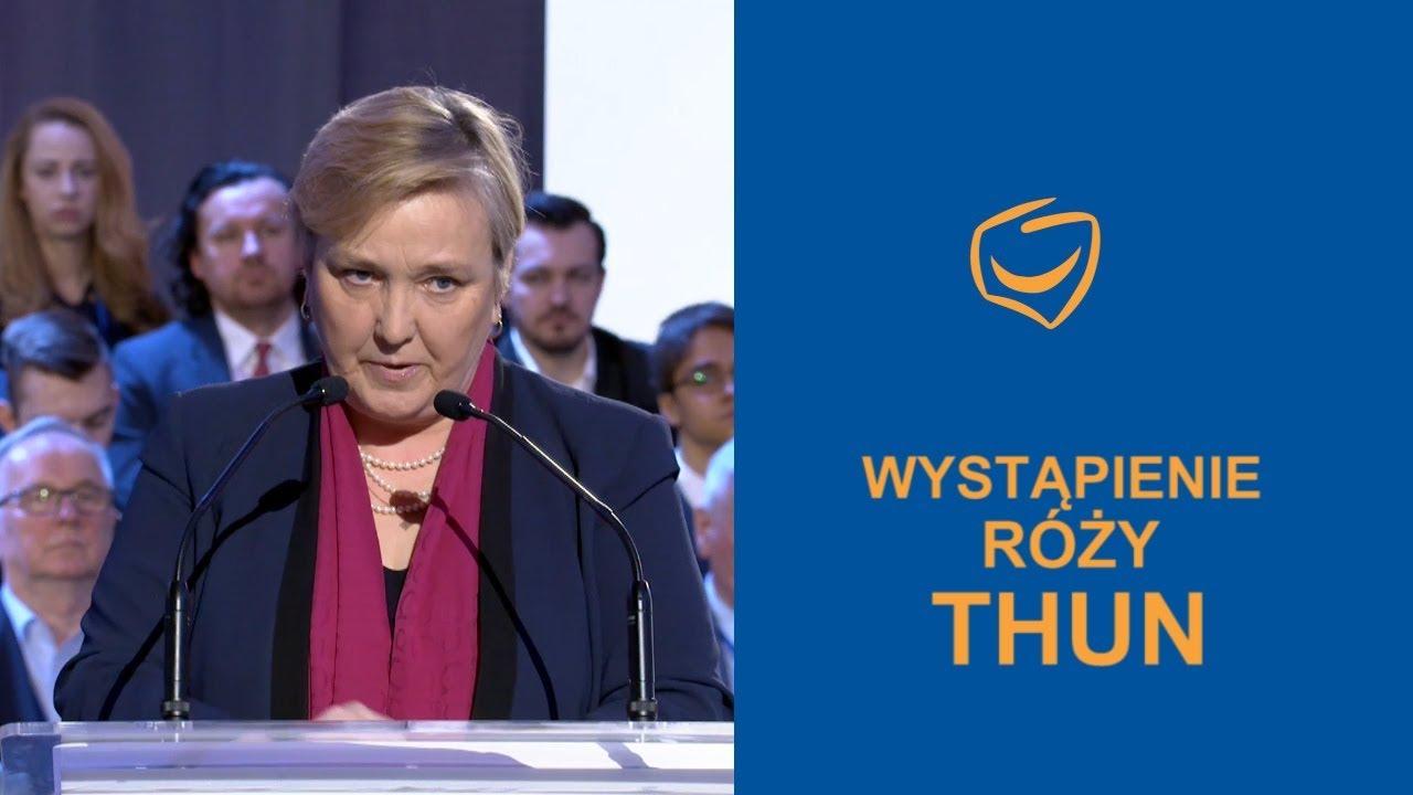 Wystąpienie Róży Thun, Rada Krajowa PO, Warszawa, 24.02.2018