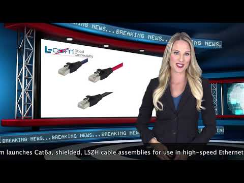 L-com Releases New Cat6a, Shielded, LSZH Cable Assemblies