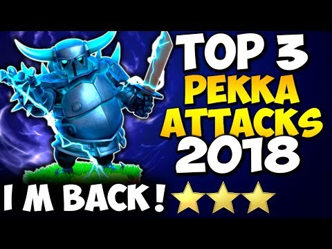 PEKKA is Back! TOP 3 TH9 BEST PEKKA ATTACK STRATEGY 2018   Clash of Clans